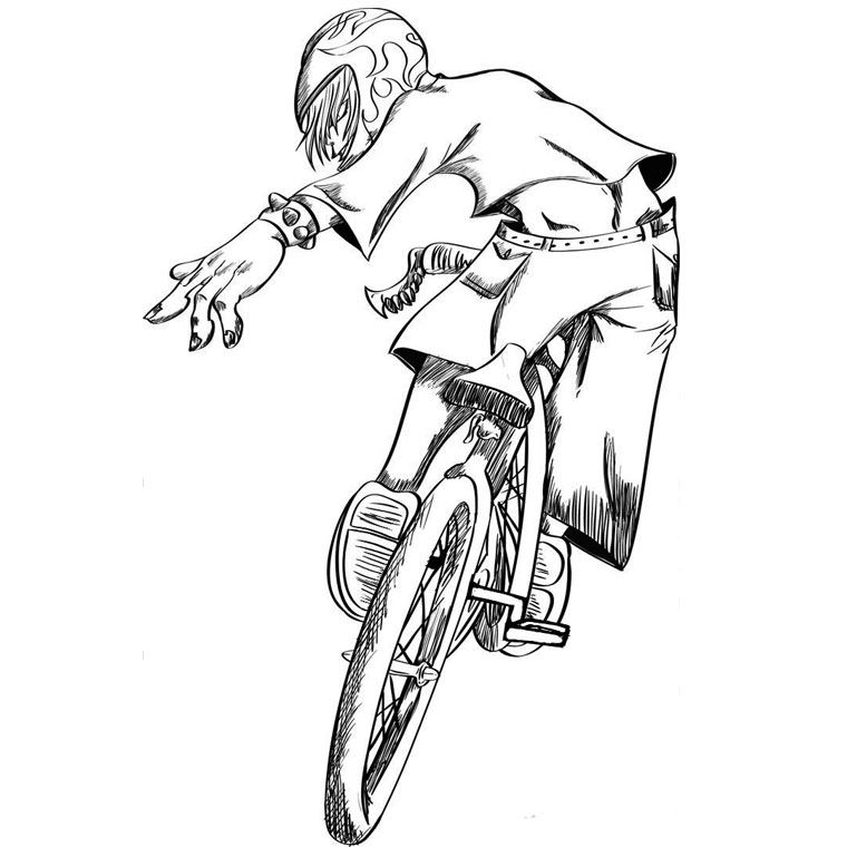 It's just a picture of Refreshing Bmx Coloring Pages