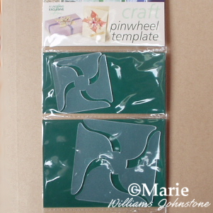 Plastic templates to make paper pinwheels