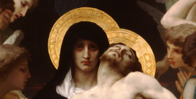 Our Lady of Sorrows with Christ