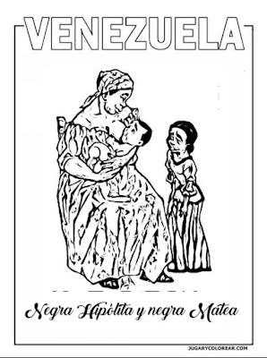 Bolívar con la negra Hipólita