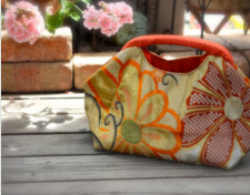 authentic vintage japanese kimono bag