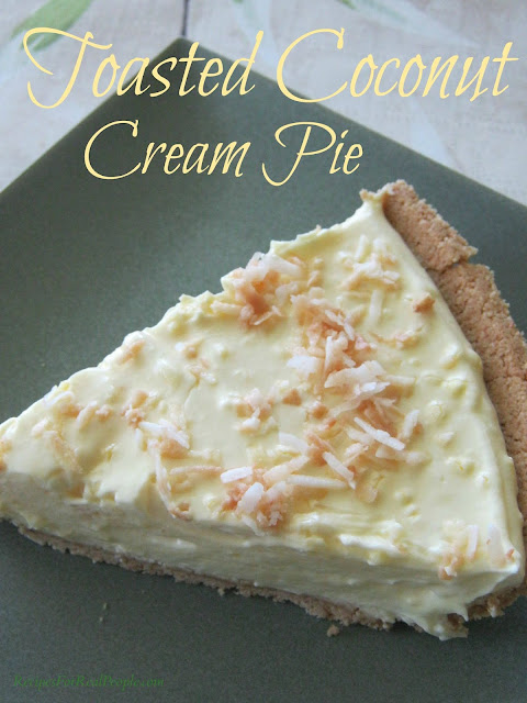 Toasted Coconut Cream Pie recipe from Recipes for Real People
