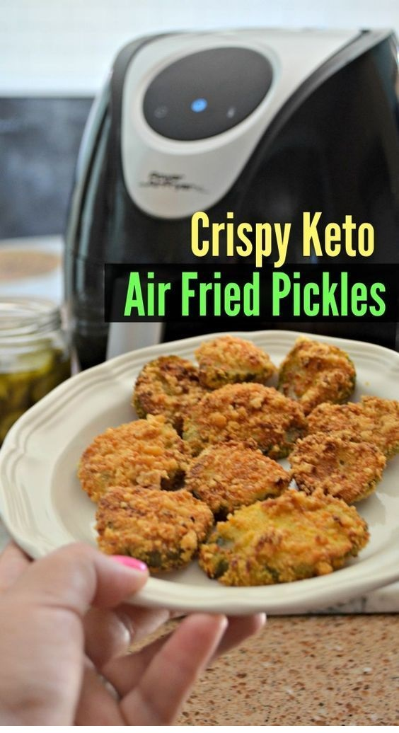 Keto Crunchy Air Fryer Fried Pickles