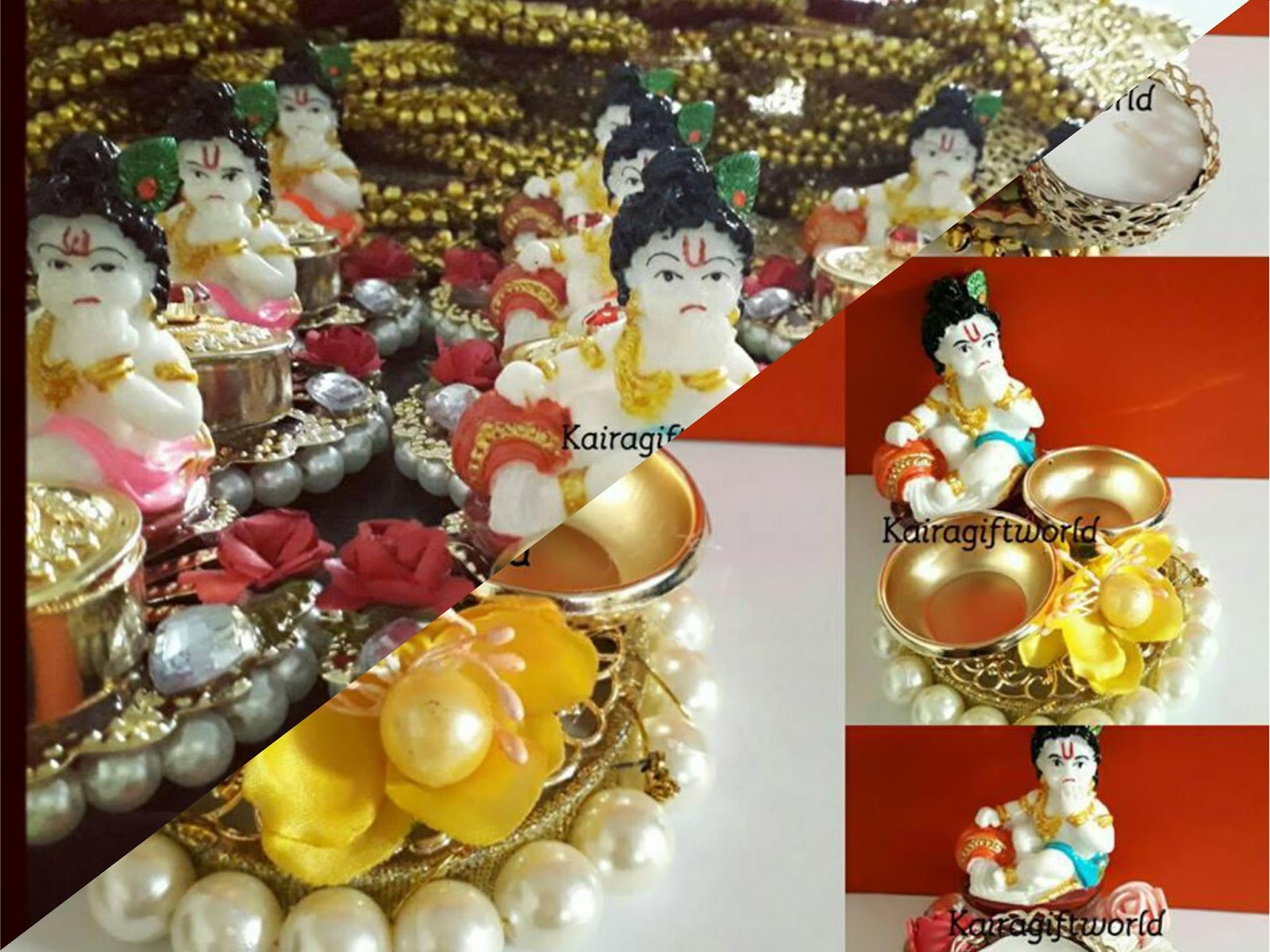 If U Are Having Baby Boy Choose Balgopal Theme Return Gifts Like Diya With Idol Bo Etc