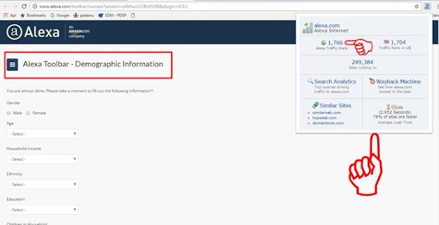 Blog dengan Memasang Alexa Toolbar di Google Chrome Cara Praktis Cek Ranking Website/Blog dengan Memasang Alexa Toolbar di Google Chrome