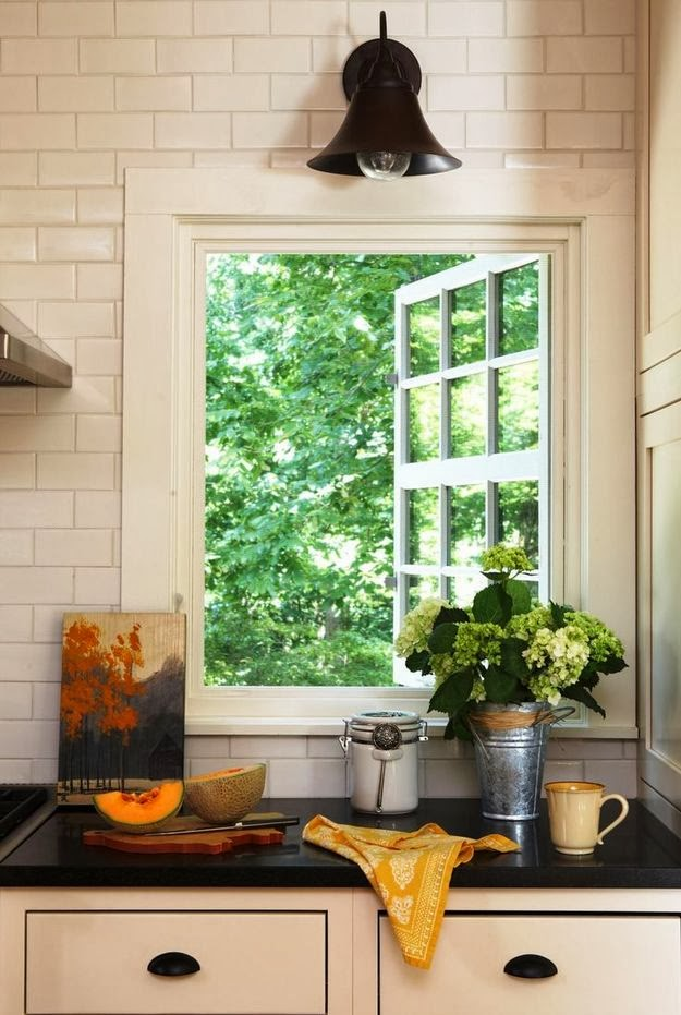 kitchen window ideas, kitchen countertop under the window