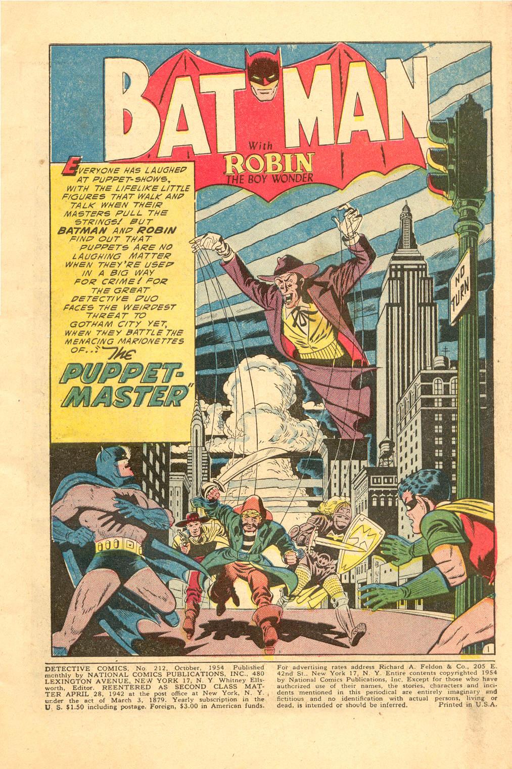 Read online Detective Comics (1937) comic -  Issue #212 - 2
