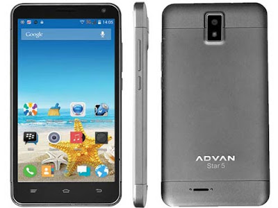 Spesifikasi dan Harga Advan Star S5M, Phablet Android KitKat IPS LCD 5 Inchi Dual Kamera