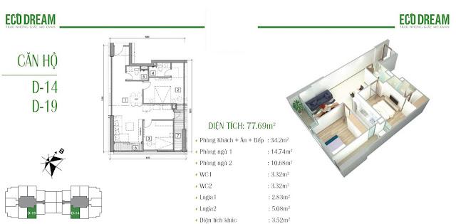 Căn hộ 14 - 19 chung cư Eco Dream