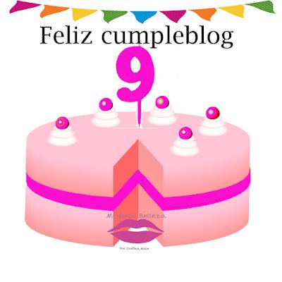 Feliz 9º cumpleblog mi dolce belleza