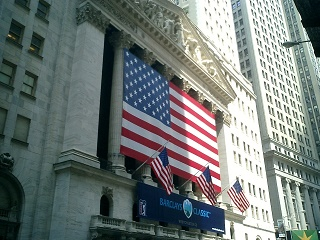 ニューヨーク証券取引所写真