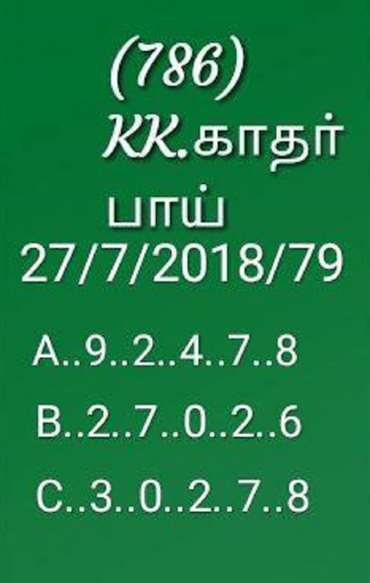 kerala lottery abc all board nirmal NR-79 on 27-07-2018 guessing by KK