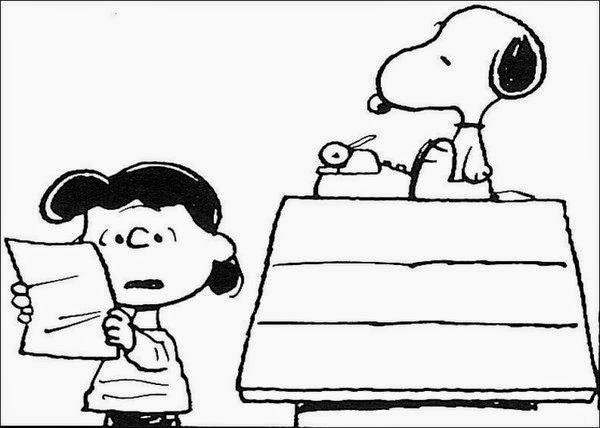 Desenhos do snoopy e turma para colorir pintar imprimir espa o educar desenhos pintar colorir - Snoopy dessin ...