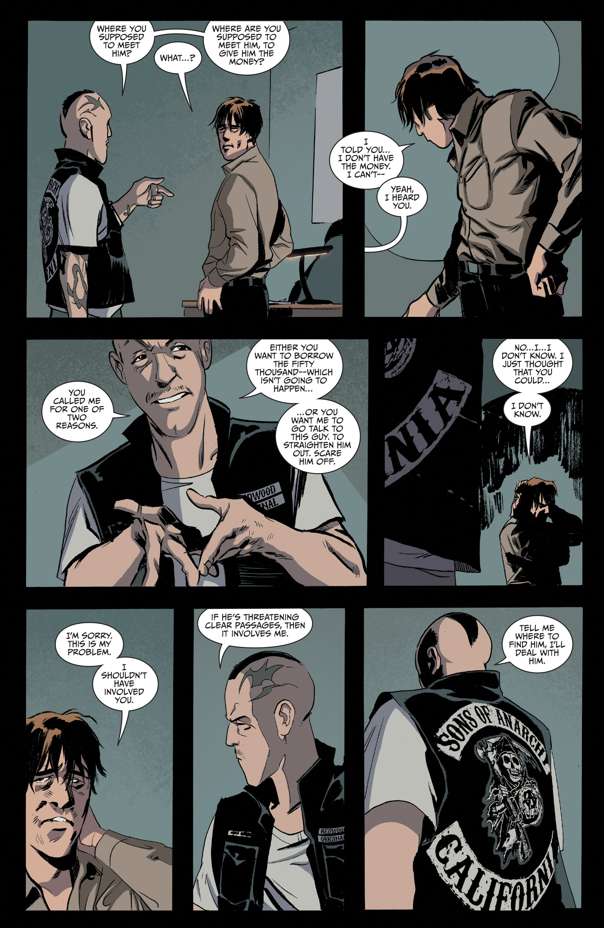 Read online Sons of Anarchy comic -  Issue #16 - 8