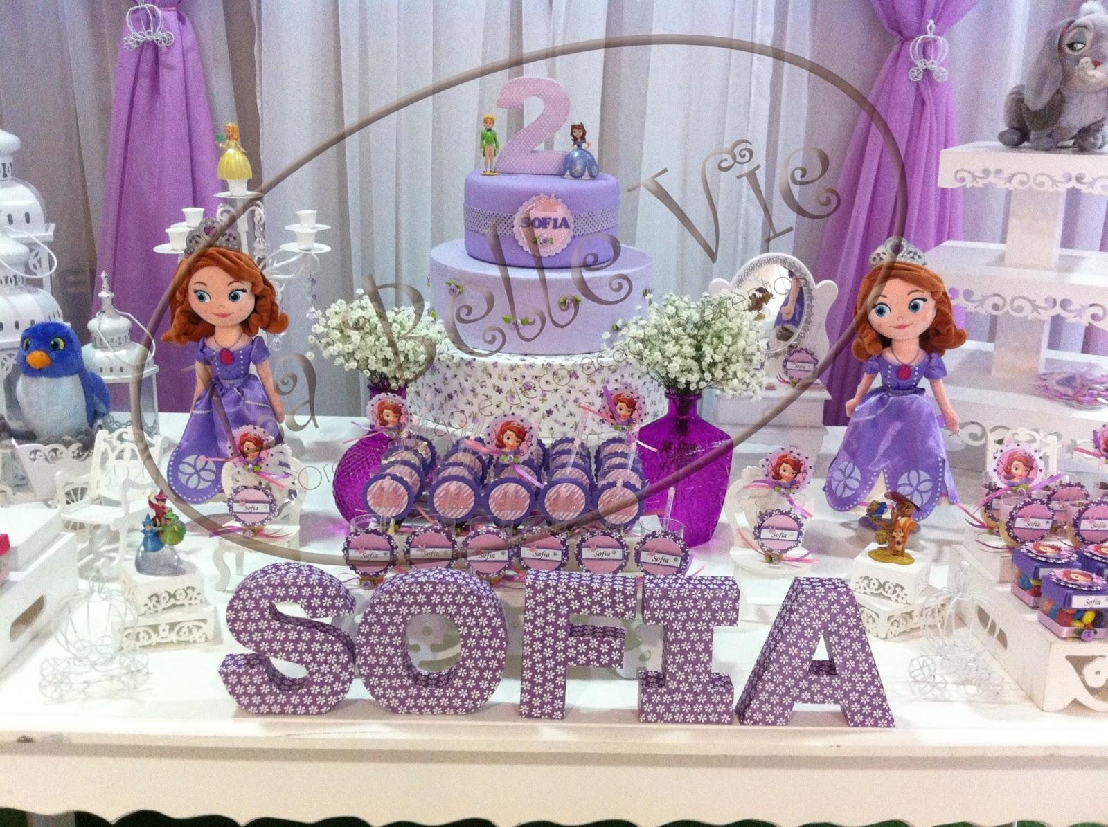 La Belle Vie Eventos Decoraç u00e3o provençal personalizada Princesa Sofia -> Decoração De Aniversário Princesa Sofia