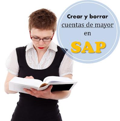 borrar cuentas contables en SAP