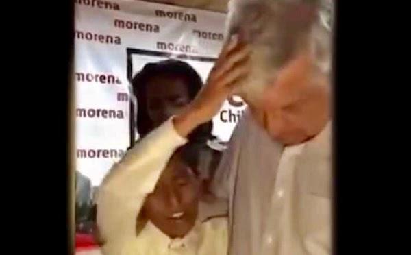 Niño pastor le da la bendición a AMLO para que 'libere a México de la dictadura'.