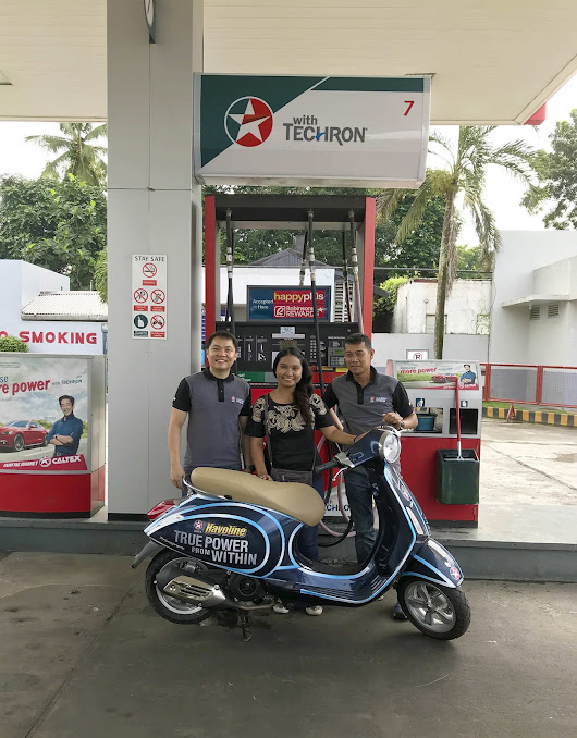 Havoline gives brand new Vespa scooter to winner of True Power from Within Promo