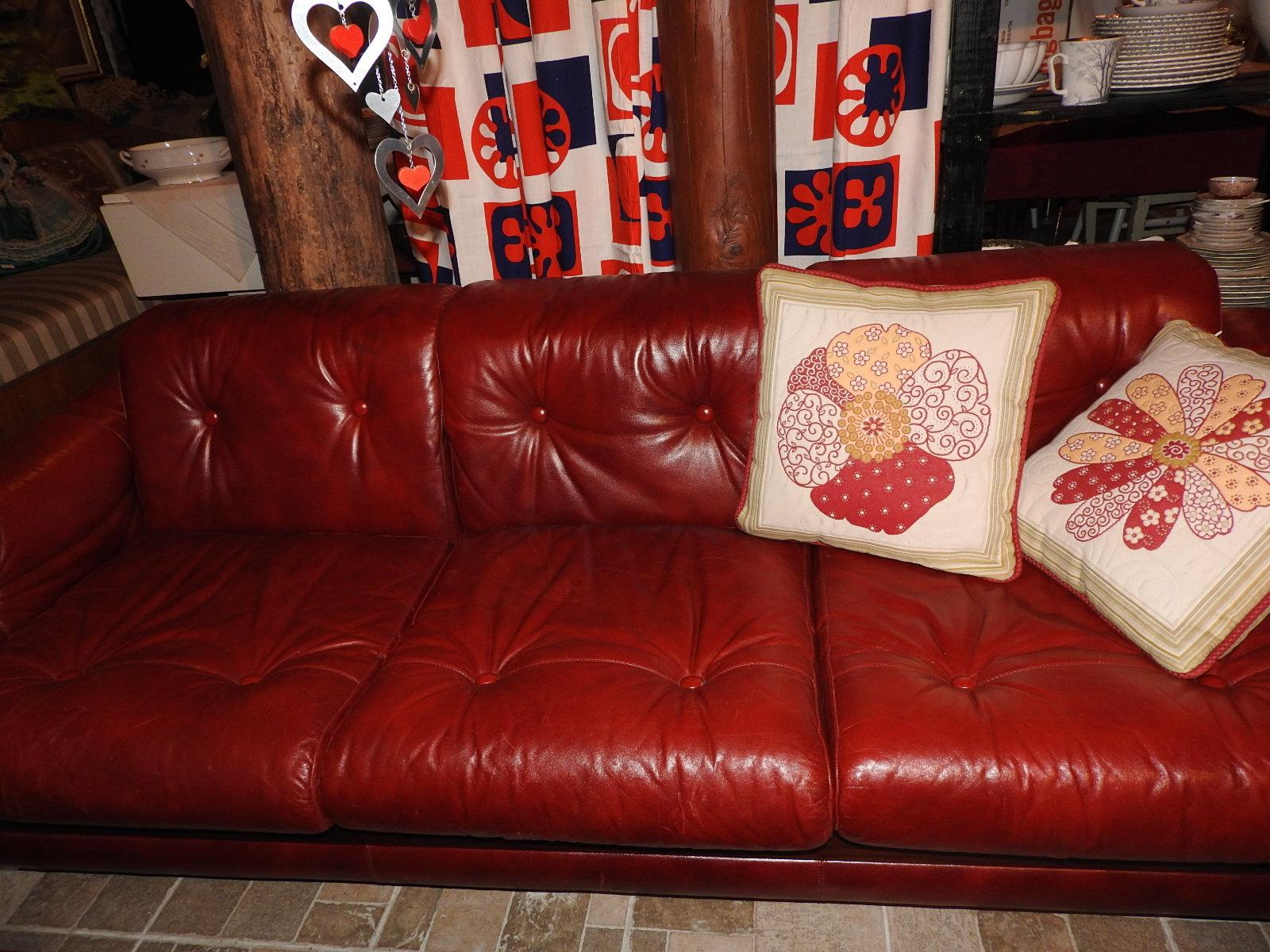 Sohvakalusto Vintage  punainen nahk