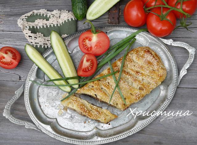 Пилешко месо в бутер тесто