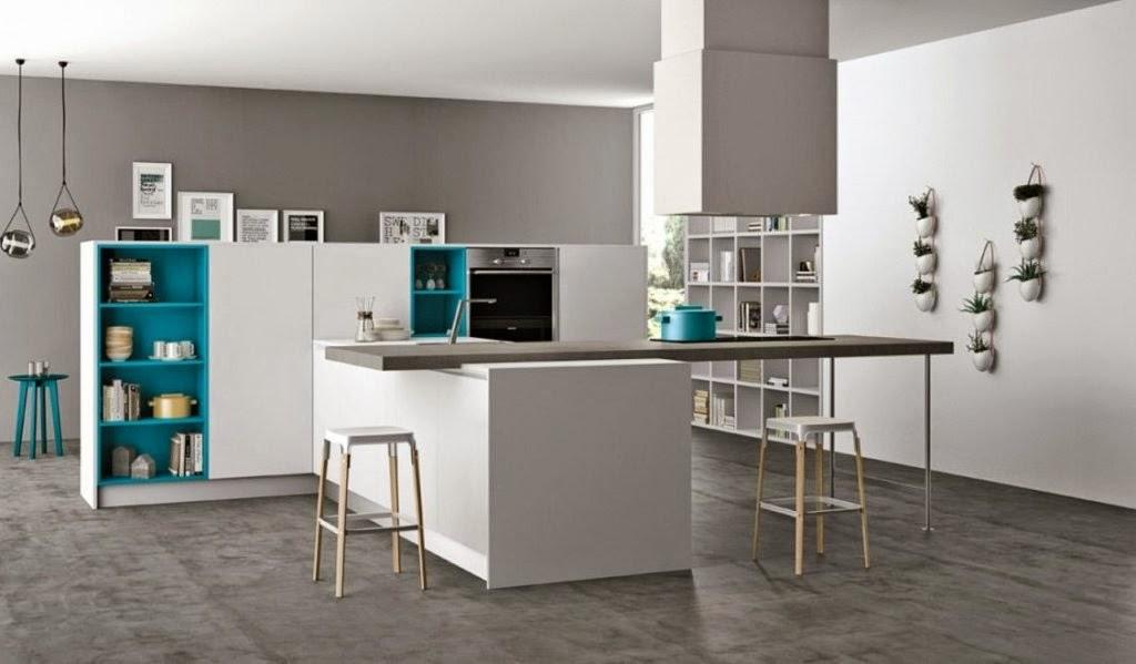 30 modelos de mesas y barras para cocinas de todos los for Figuras en drywall para cocinas