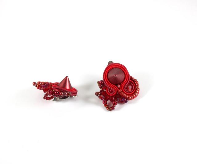 soutache earrings, soutache  jewelry