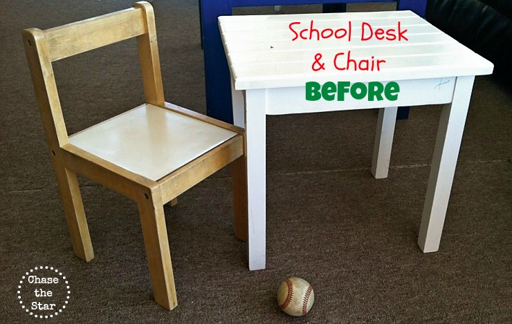 Pre School Desk and Chair Makeover
