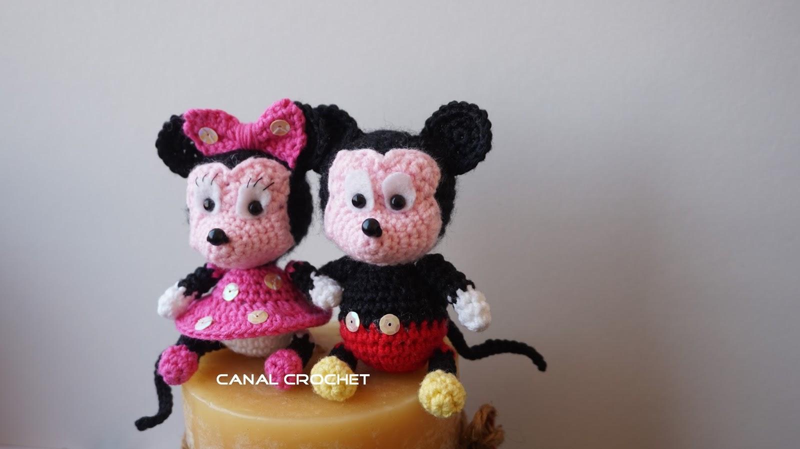 Amigurumi Disney Tutorial : CANAL CROCHET: Mickey y minnie amigurumi tutorial