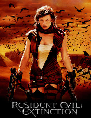 Poster Of Resident Evil Extinction 2007 Hindi Dual Audio 450MB BRRip 720p HEVC Free Download Watch Online downloadhub.net