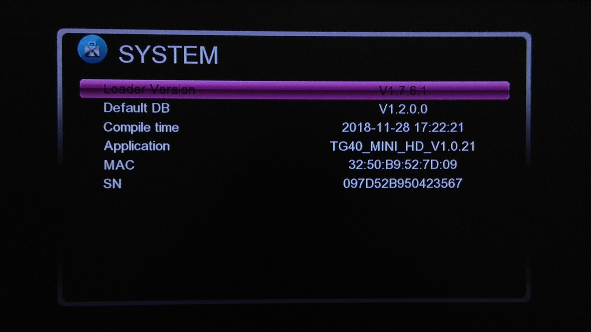 Software Raylan TG40 HD Mini Update Firmware Receiver