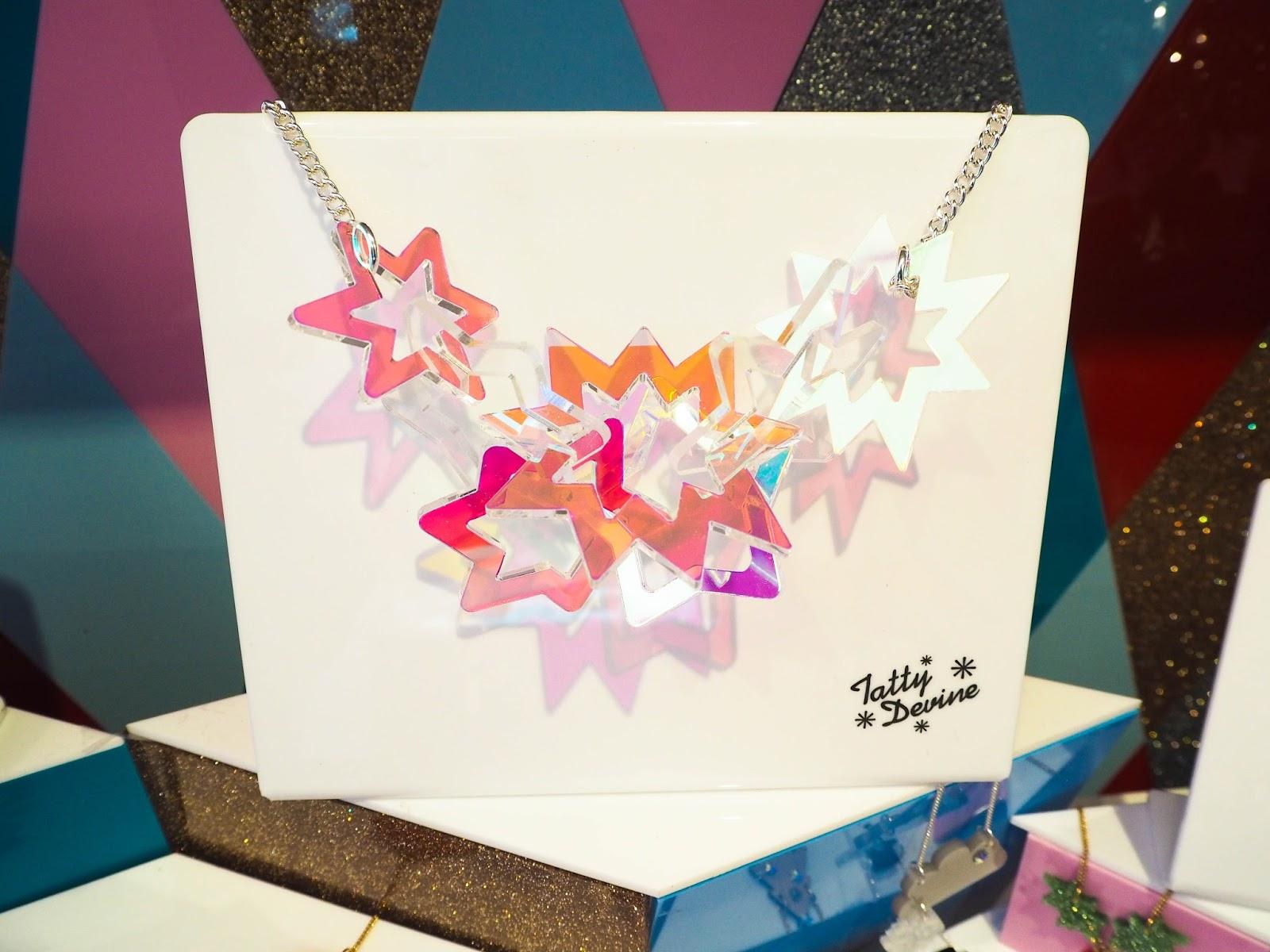 Tatty Devine Christmas stars necklace