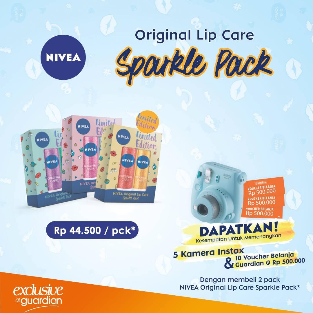 Guardian - Beli Nivea Lip Care limited Edition Dapat 5 Kamera + 10 Voucher 500 Ribu