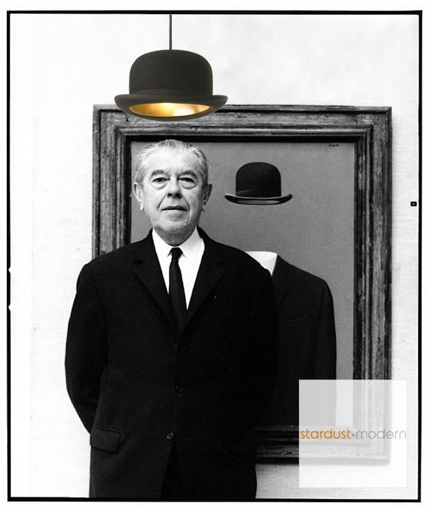 JEEVES Jake Phipps Modern Stylish Bowler Hat Pendant Hanging Light from  Innermost with Gold Liner and Round Shape fd8e680ef86f