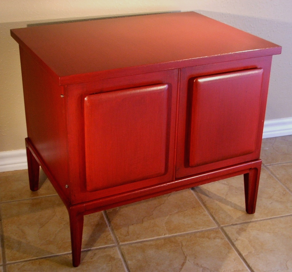Red Vintage End Table