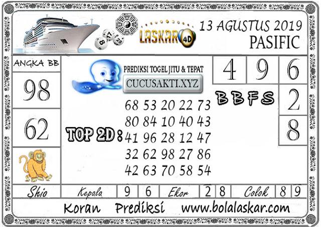 Prediksi Togel Jitu PASIFIC LASKAR4D 13 AGUSTUS 2019