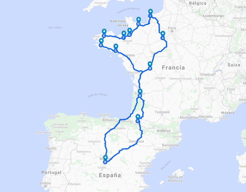 Bretaña Y Normandia Mapa.17 Dias En Bretana Y Normandia Preparando El Viaje