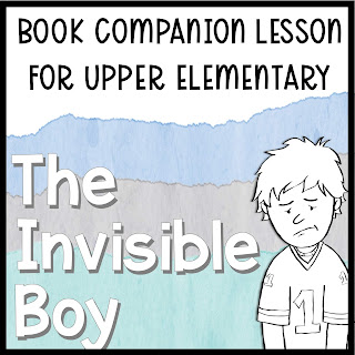 the invisible boy lesson plan on tpt