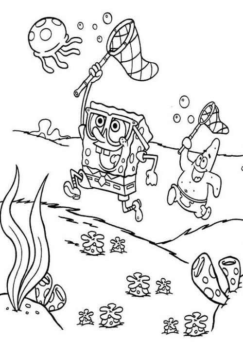 8 Spongebob and Patrick Coloring Pages >> Disney Coloring ...
