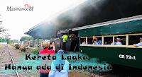 Bangga!! Kereta Langka ini Hanya ada di Indonesia