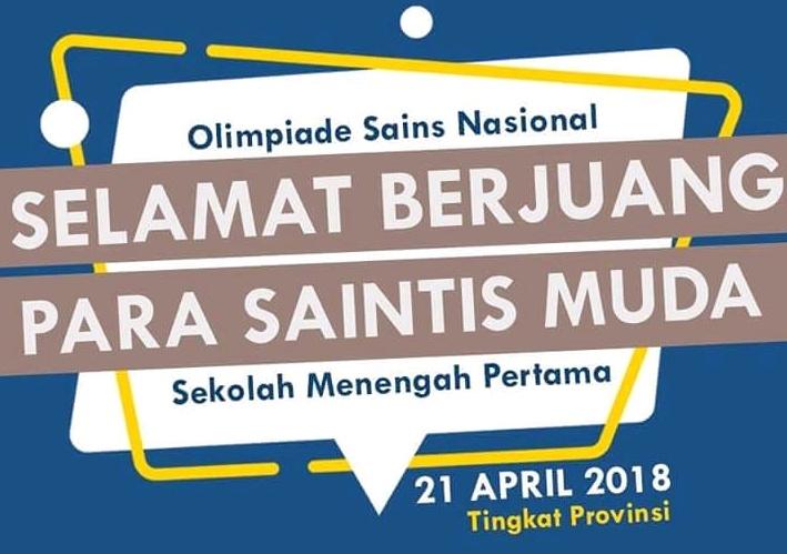 Olimpiade Sains Nasional Tingkat Provinsi Pelaksanaan OSP SMP 2018 : Soal Bertipe HOTS
