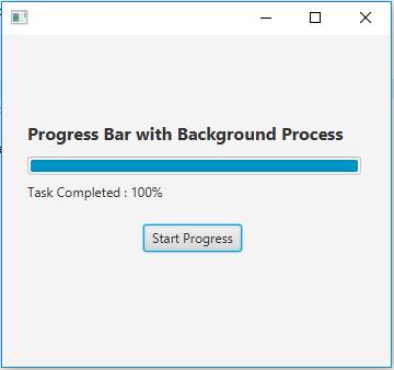 COOL IT HELP: How to show progress with JavaFX ProgressBar