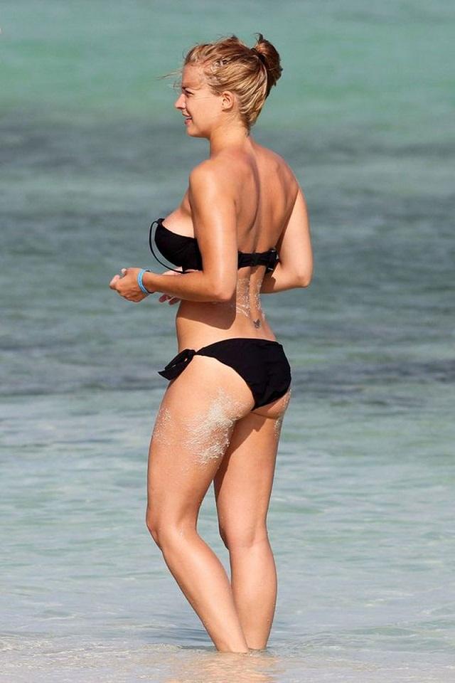 Gemma atkinson striped bikini with