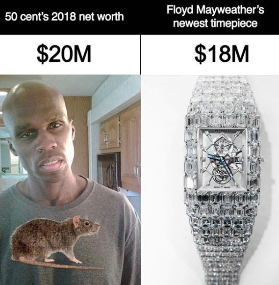 'You're not supposed to be beefing with me, you should be beefing with my watch' – Mayweather Drags The Heck Out Of 50 Cent