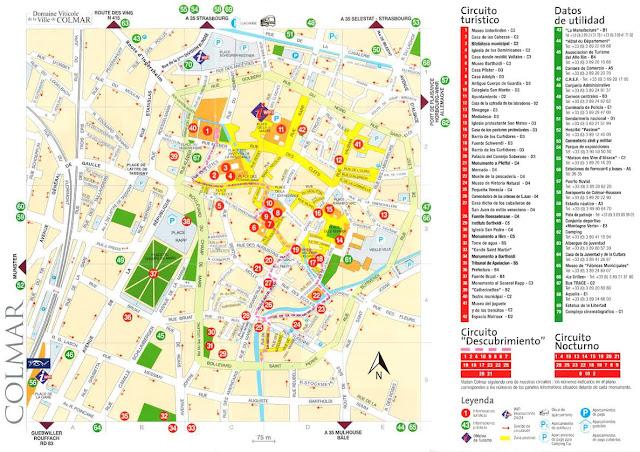 Mapa de Colmar, Alsacia, Francia