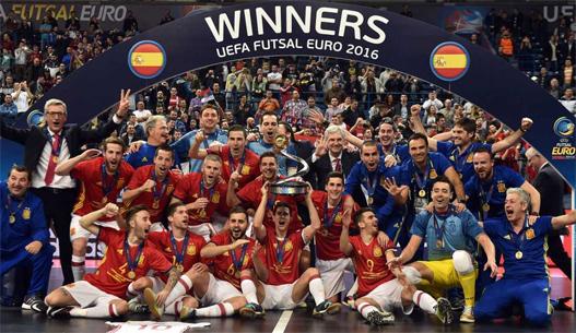 España Campeona de Europa de Fútbol Sala 2016