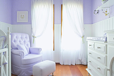 quarto bebe lilas