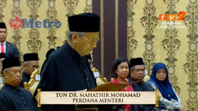 Tun M angkat sumpah sebagai PM ke 7 Malaysia