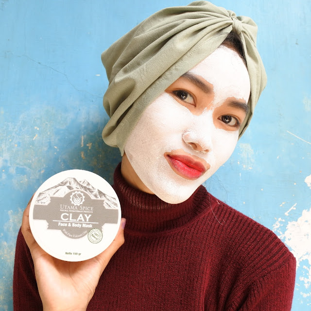 Review Utama Spice Clay Face & Body Mask