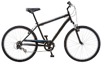 "Schwinn Men's Suburban Comfort Bike 26"" Black, with Microshift 7-speed shifters, Shimano rear derailleur, alloy linear pull rim brakes, 26"" wheels, 18"" steel frame"