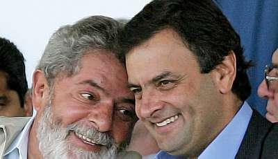 Resultado de imagem para Fotos Lula e Aécio